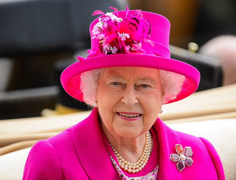 Britain`s Queen Elizabeth II arrives for day four of the 2014 Royal Ascot Meeting at Ascot Racecourse, southern England.