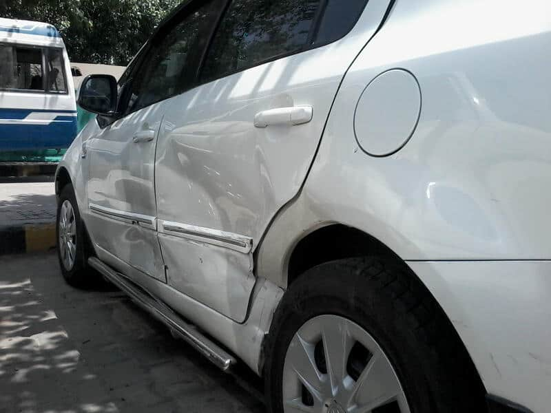 Union Minister Gopinath Munde`s car was damaged following a crash with another car in Delhi Tuesday morning.