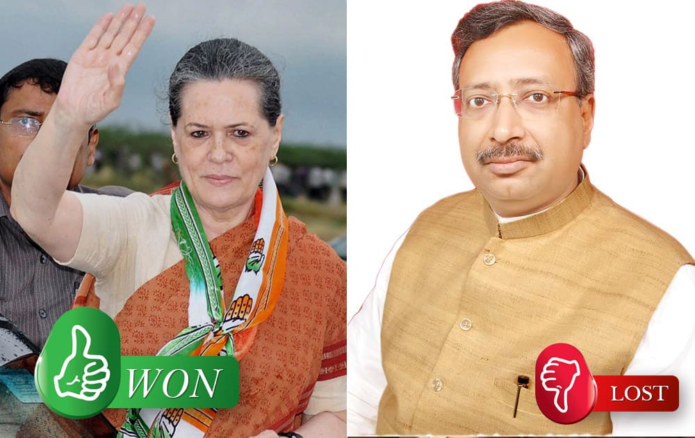 Sonia Gandhi (Congress) defeated Ajay Agrawal (BJP) from Rae Bareli (UP)