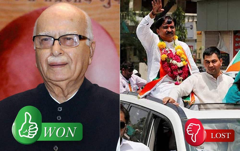 LK Advani (BJP) defeated Kiritbhai Ishwarbhai Patel (Congress) from Gandhinagar (Gujarat)