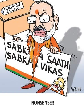BJP leader Giriraj Singh controversially said Narendra Modi`s critics should go to Pakistan.