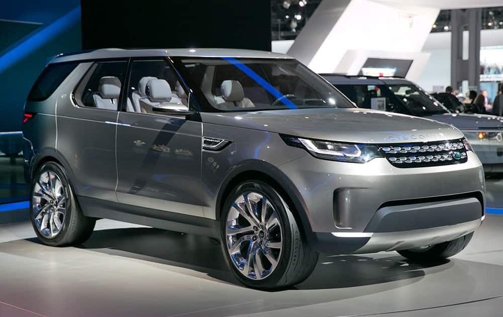 The 2015 Land Rover Discovery Vision Concept is introduced during the 2014 New York International Auto Show, at the Javits Convention Center, in New York.