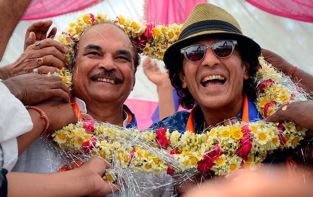 Bollywood actor Chunky Pandey campaigns for RPD candidate.
