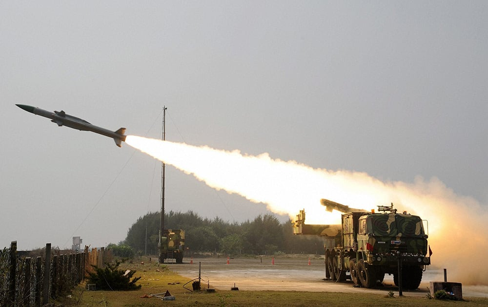 Akash the indigenously designed developed and produced Surface to Air missile for the Indian Army was once again successfully flight tested at the Integrated Test Range (ITR), Chandipur.