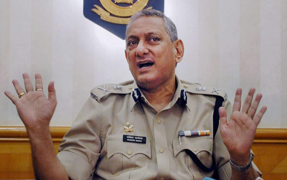 Rakesh Maria after being appointed as a Mumbai Police Commissioner in Mumbai.