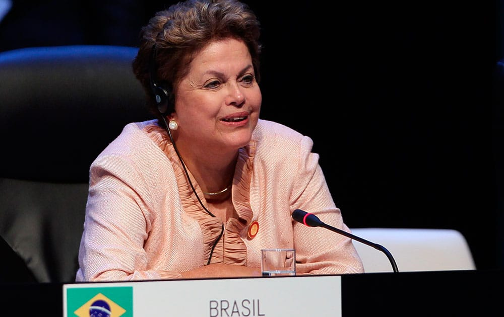 Brazil`s President Dilma Rousseff attends a session of the CELAC Summit in Havana, Cuba.