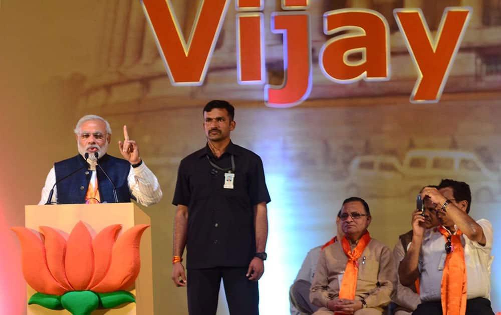 PM candidate and Gujarat Chief Minister Narendra Modi addresses `Vijay Sankalp` rally in Panji Goa.