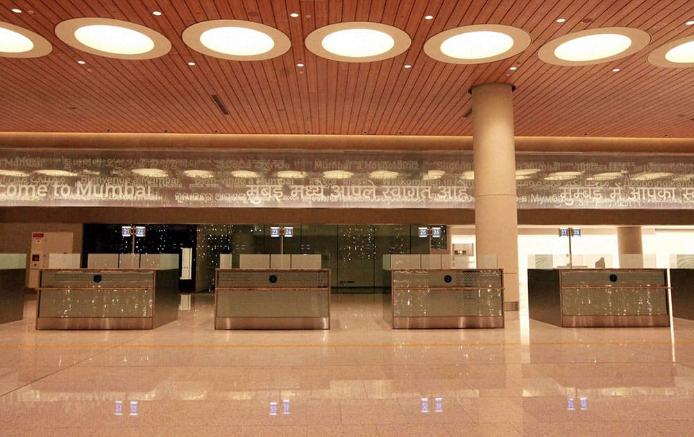 A view of Chhatrapati Shivaji International Airport`s Terminal 2 that was inaugurated by Prime Minister Manmohan Singh in Mumbai.