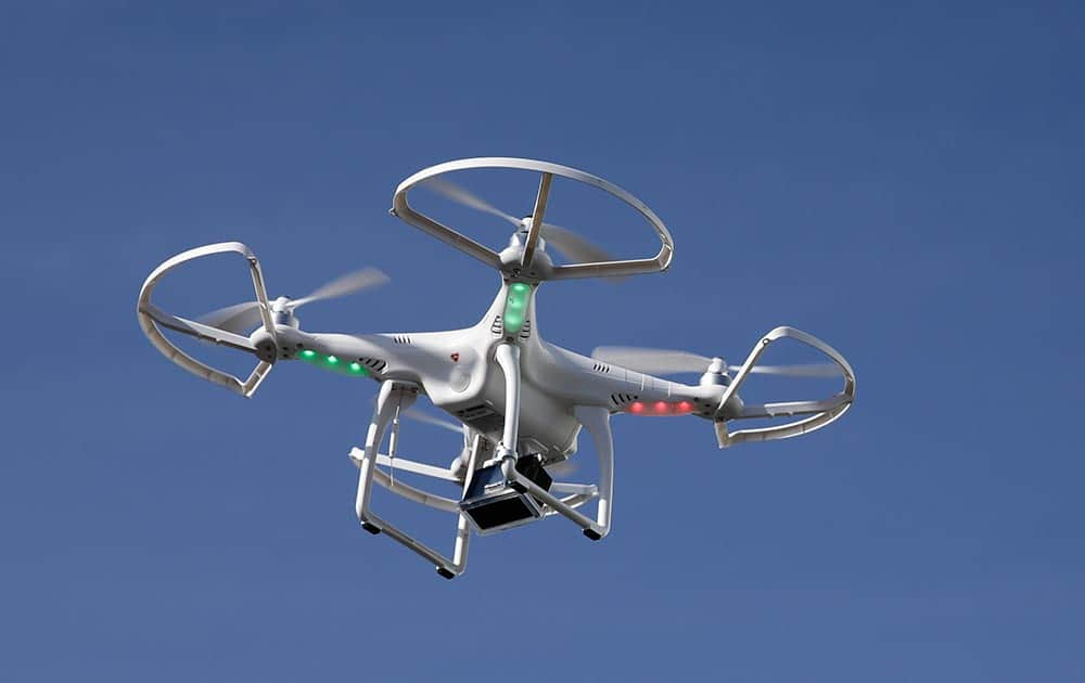 A drone flies at the International Consumer Electronics Show, in Las Vegas.