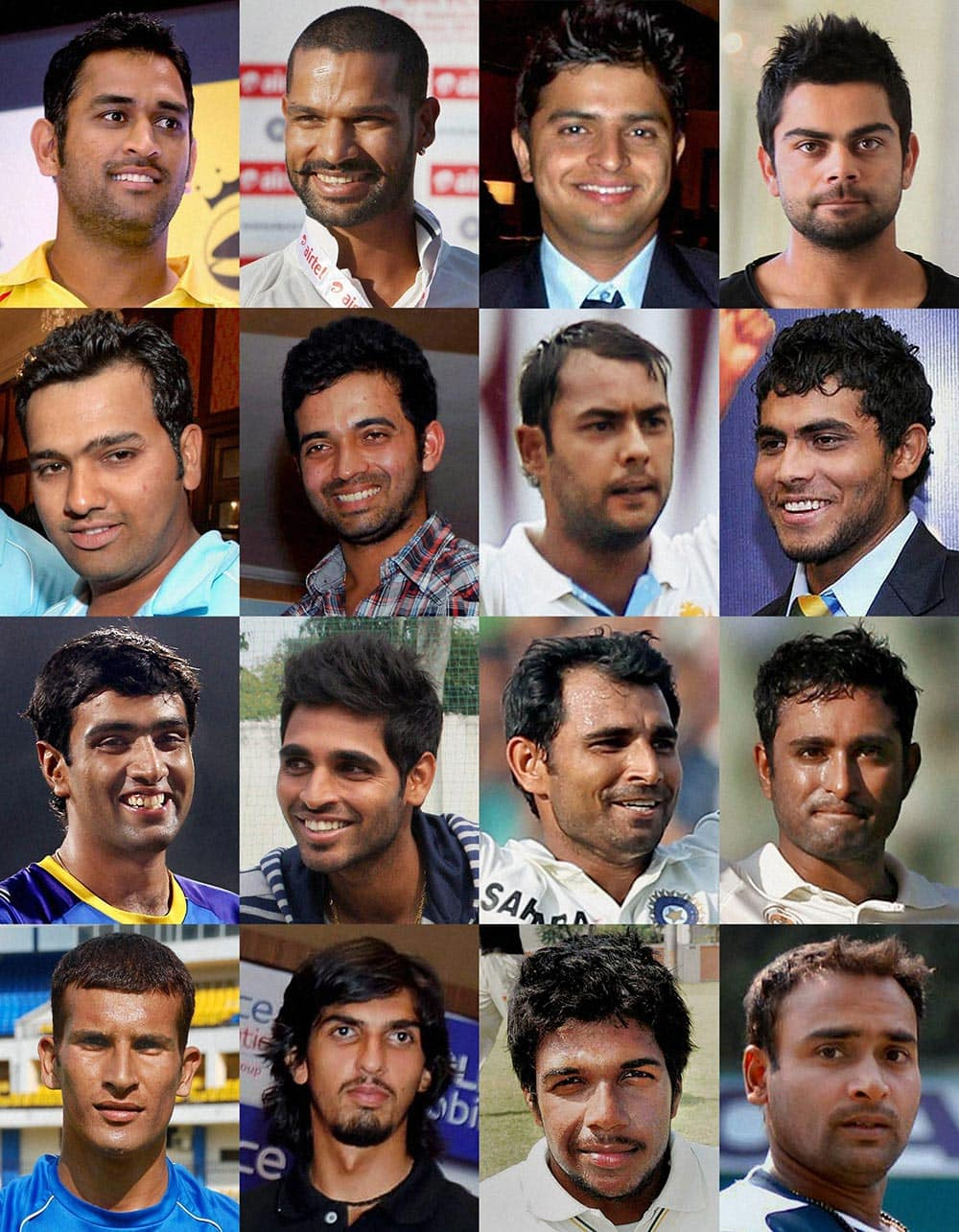 The 16 member Indian ODI Squad, picked for the ODI matches in the forthcoming New Zealand tour.