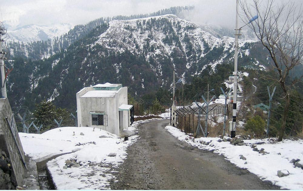 A view after the first major snowfall of the season in Poonch.
