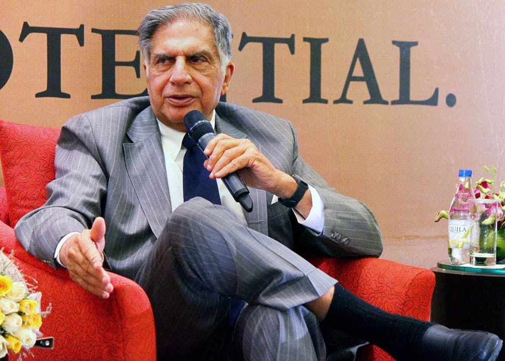 Ratan Tata at a business school alumni.