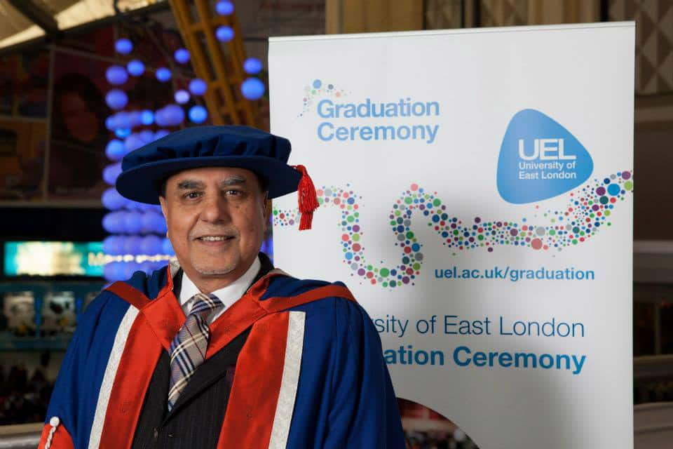 Essel Group Chairman Subhash Chandra conferred honorary Doctorate from University of East London.