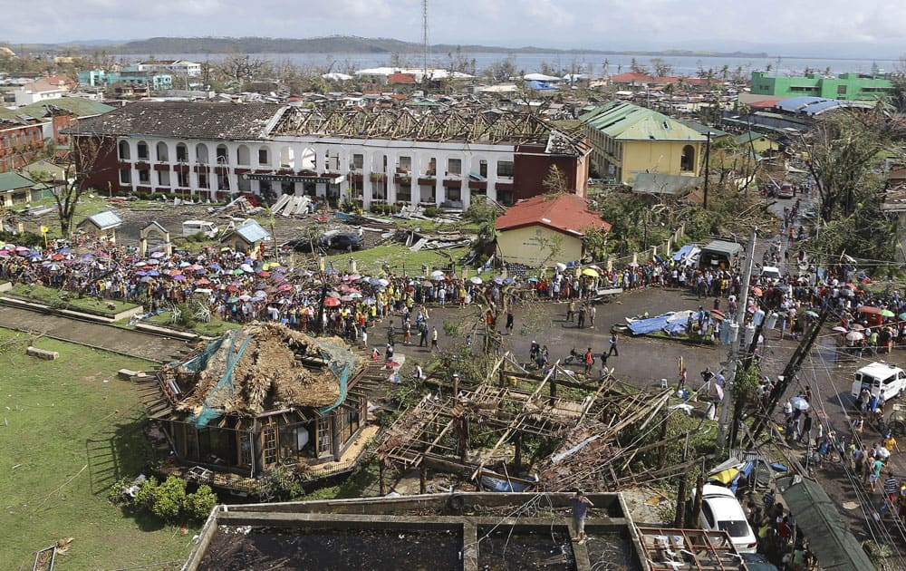 The devastation caused by Typhoon Haiyan, in Tacloban city, Leyte province in central Philippines.