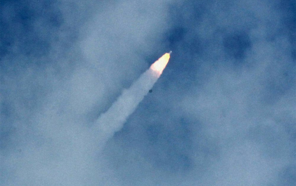 India successfully launched its first mission to Mars on board PSLV C25 from Satish Dhawan Space Centre (ISRO) at Sriharikota in Andra Pradesh on Tuesday. The mission is expected to reach Mars` orbit.