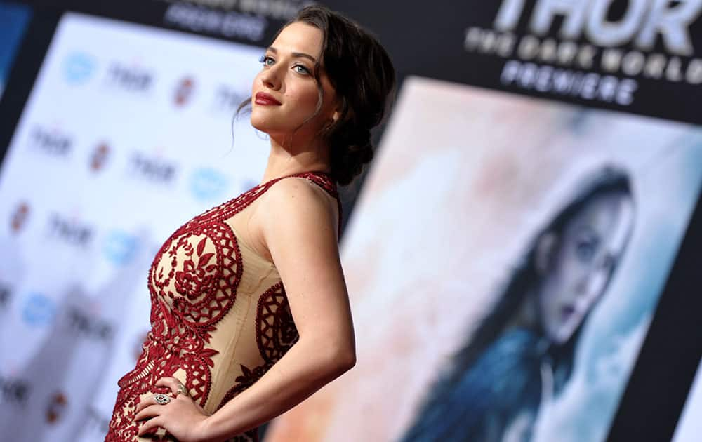 Kat Dennings arrives at the U.S. premiere of