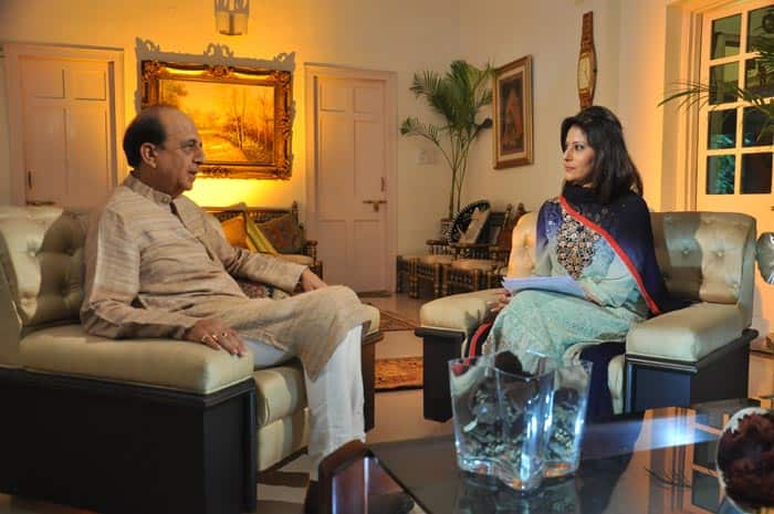 Dinesh Trivedi, former Union Minister for Railways with the anchor Mimansa Malik