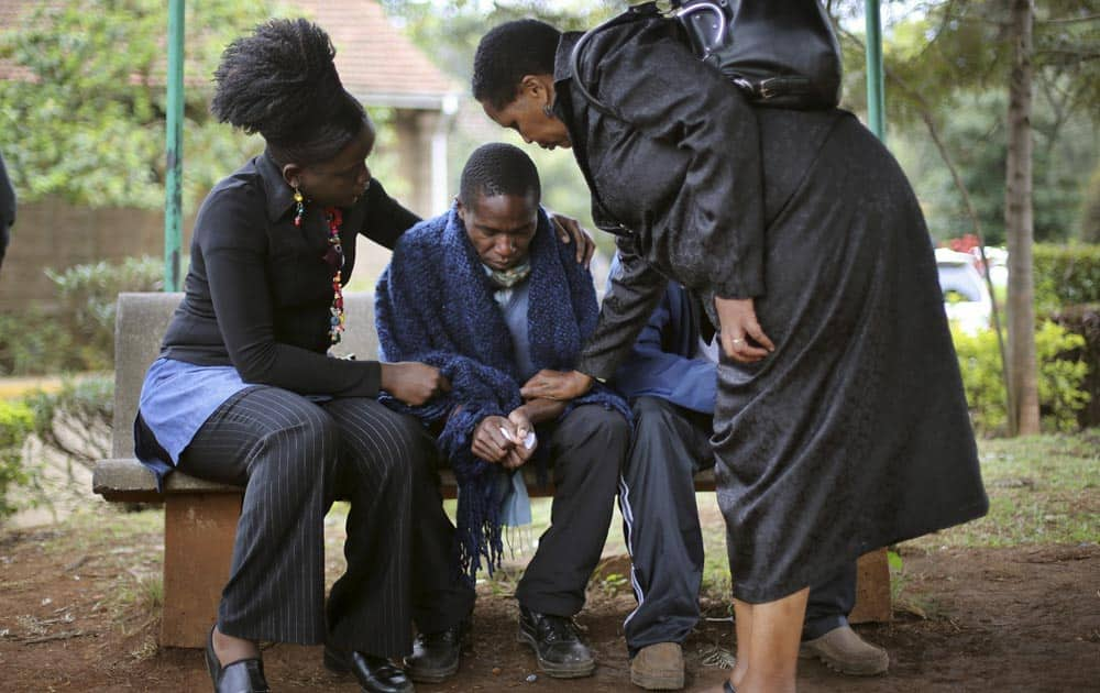 Stephen, who lost his father in Saturday`s attack at the Westgate Mall in Nairobi, Kenya.