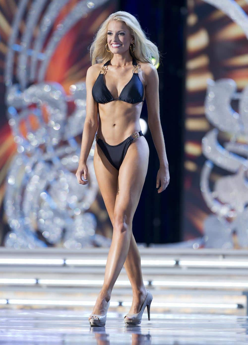 Miss Mississippi Chelsea Rick participating in the swimsuit competition during first night of preliminaries for the Miss America pageant in Atlantic City, N.J. Rick won the swimsuit competition.