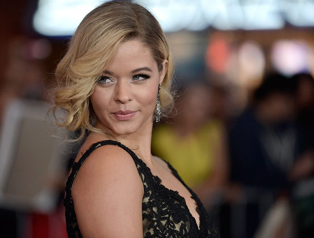 Sasha Pieterse arrives at the world premiere of
