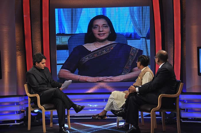 Guest on the show `India ka Agenda`.