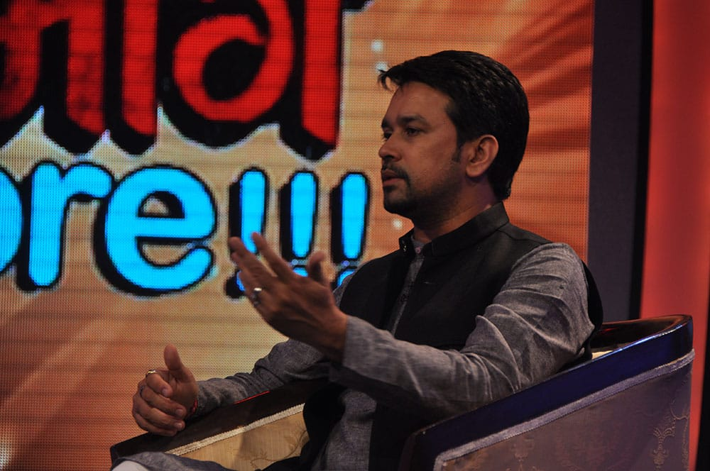 Anurag Thakur talking on the topic - safety in India.