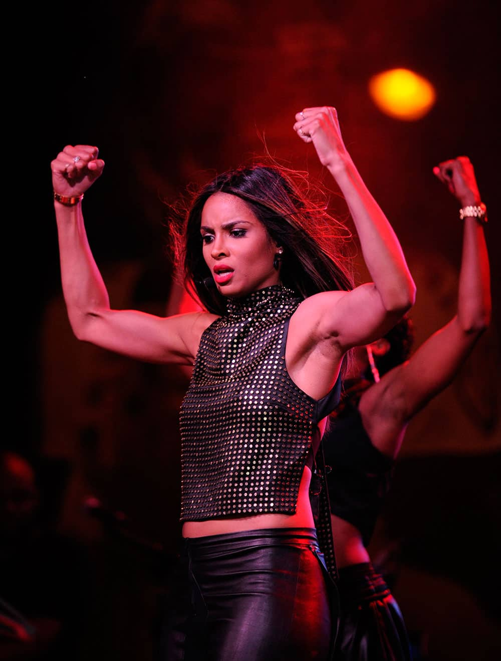 Ciara performs at The NFL Kickoff Eve Party, Wednesday in Baltimore.
