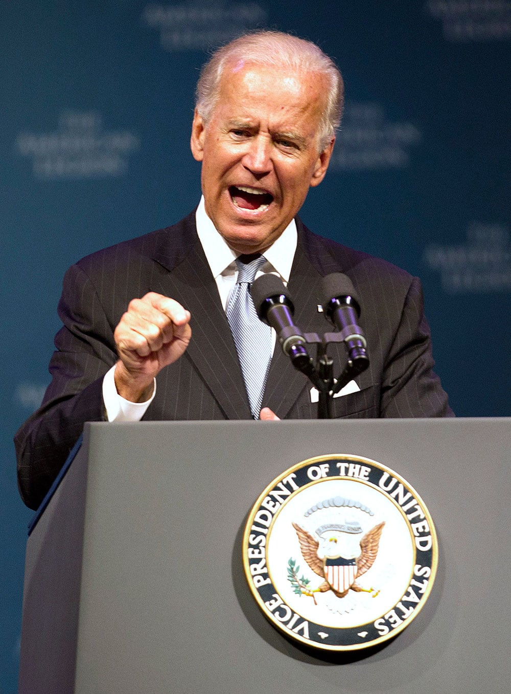 Vice President Joe Biden speaks during The American Legion`s annual convention at the George R. Brown Convention Center in Houston.