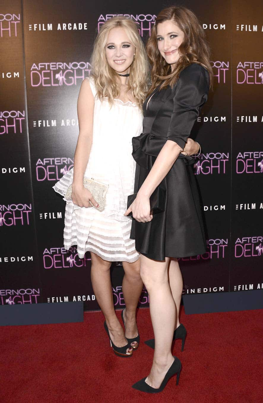 Actress Juno Temple, left, and actress Kathryn Hahn arrive at the Los Angeles premiere screening of the feature film