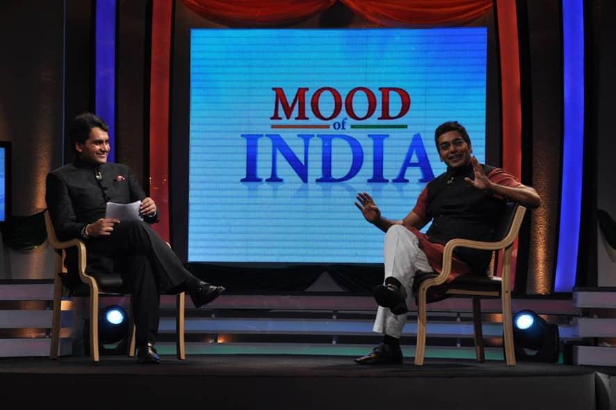 Zee News Editor Sudhir Chaudhary and Bollywoood actor Ashutosh Rana host Bharat Bhagya Vidhata's show India Ka Mood