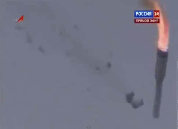 Russian booster rocket carrying three satellites crashes at a Russia-leased cosmodrome in Kazakhstan, shortly after the launch The Proton-M booster unexpectedly shut down the engine 17 seconds into the flight and crashed some 2 kilometers away from the Baikonur launch pad.