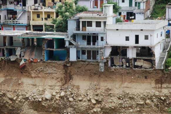 Most houses damaged were along the river. Photo Courtesy: Siddharth Behl/SEEDS