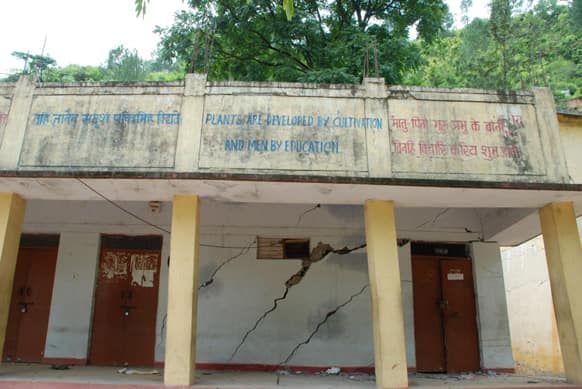 Inter-college, in Tilak Nagar, Tilwara-Gram Panchyat, near Augustyamuni. The school has been completely damaged and needs to be relocated for any future reconstruction.  Photo Courtesy: Siddharth Behl/SEEDS
