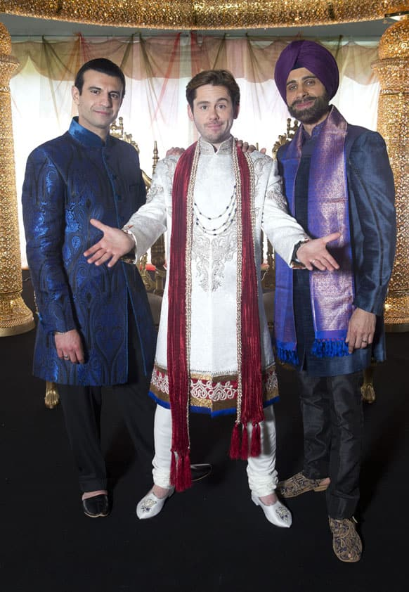 Sam Vincenti, Martin Delaney and Rez Kempton, who play the three main characters in