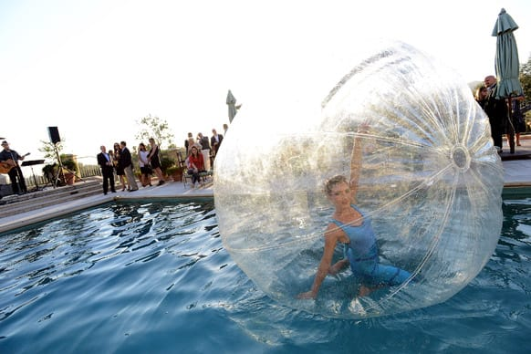 A general view of atmosphere of a water ball at An Evening with No Limits sponsored by Starkey Foundation in Los Angeles.
