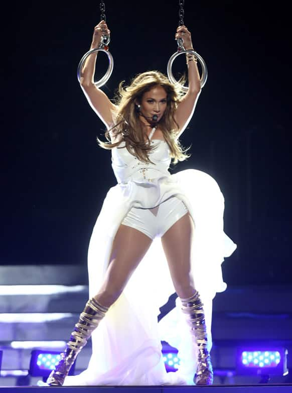Jennifer Lopez performs at the