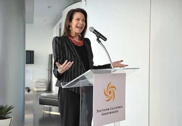 Sherry Lansing CEO, The Sherry Lansing Foundation is seen at the welcome reception for Essel in Los Angeles.