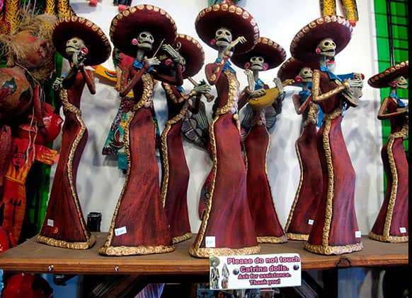 Artwork is shown at Masks y Mas, an Albuquerque shop that sells `Day of the Dead` art year round.