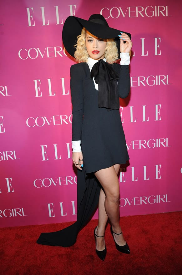 Singer Rita Ora attends the 4th Annual ELLE Women in Music Celebration, in New York.