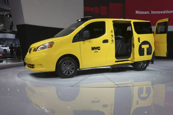 The Nissan NV200 Mobility Taxi is presented at the New York International Auto Show, in New York`s Javits Center, in New York.