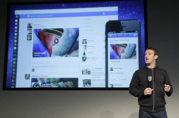 Facebook CEO Mark Zuckerberg speaks at Facebook headquarters in Menlo Park, Calif.