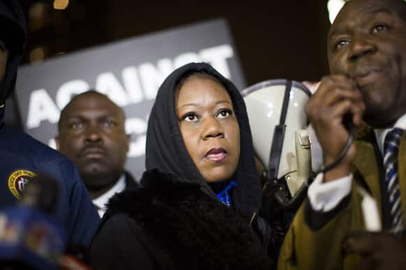Sybrina Fulton, mother of Trayvon Martin, attends a candlelight vigil in Union Square to commemorate the one-year anniversary of the fatal shooting her 17-year old son by neighborhood watch member George Zimmerman in Florida, in New York.