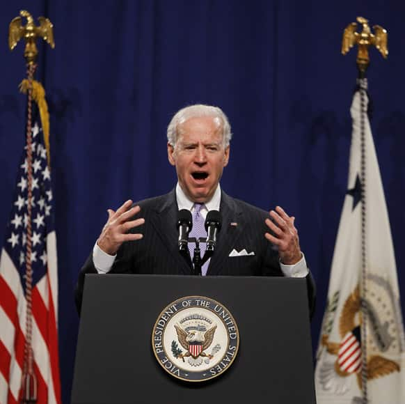 Vice President Joe Biden speaks at the House Democratic Issues Conference in Leesburg, Va.