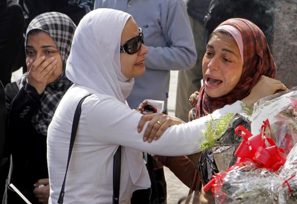 Egyptian relatives of Mohammed Saad, a 20-year-old protester, known to his friends as