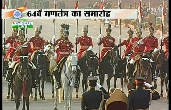 Beating Retreat ceremony 2013 - three days after India celebrated 64th Republic day on January 26.