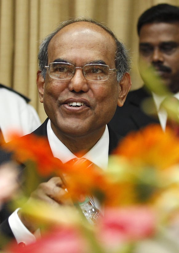 Reserve Bank of India (RBI) Gov. Duvvuri Subbarao gestures during the third quarter monetary policy review meeting at the RBI headquarters in Mumbai.
