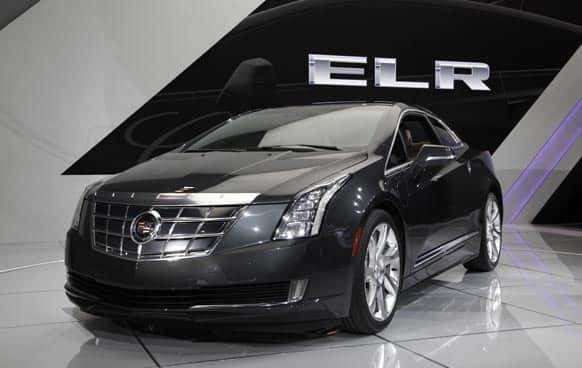 The Cadillac ELR debuts at media previews for the North American International Auto Show in Detroit.