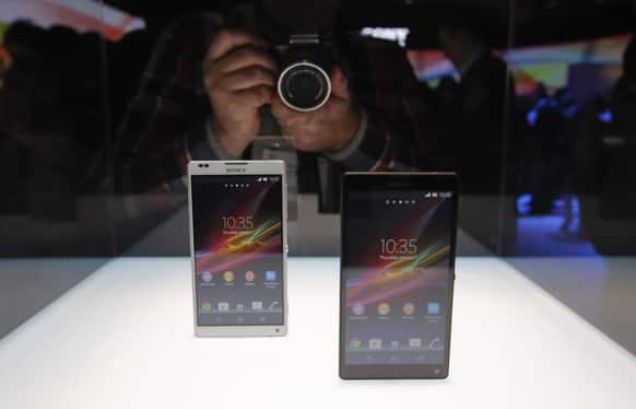 Sony`s new Xperia Z smartphones are unveiled at the International Consumer Electronics Show in Las Vegas.