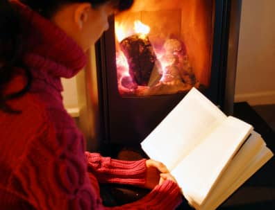 Happy chimney-corner days; Sitting safe in nursery nooks, Reading Picture story books