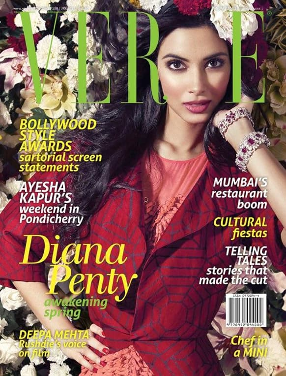 Diana Penty adorns the cover of the January 2013 issue of the Verve magazine.